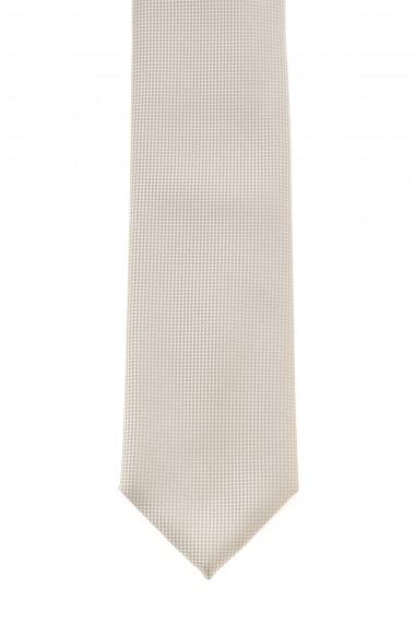 A/I  RIONE FONTANA Cravatta beige in seta per uomo