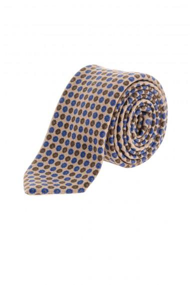 FRANCO BASSI Cravatta in lana beige A/I 16-17 per uomo