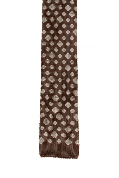 RIONE FONTANA Brown tie for men F/W 16-17 with patterns