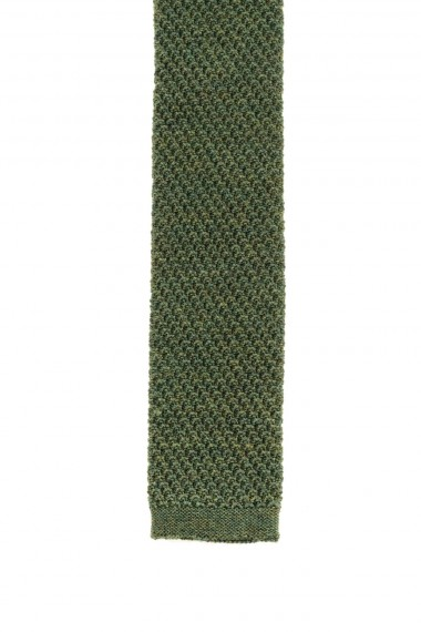 FRANCO BASSI Green tie for men F/W 16-17 wool fabric