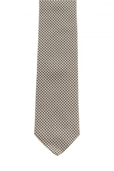 FRANCO BASSI  A/I 16-17 Cravatta bianca e nera per uomo