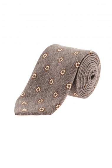 A/I 16-17 Cravatta grigia con fiori FRANCO BASSI per uomo