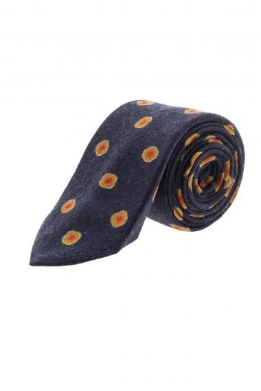 A/I 16-17 FRANCO BASSI Cravatta blu con disegni per uomo