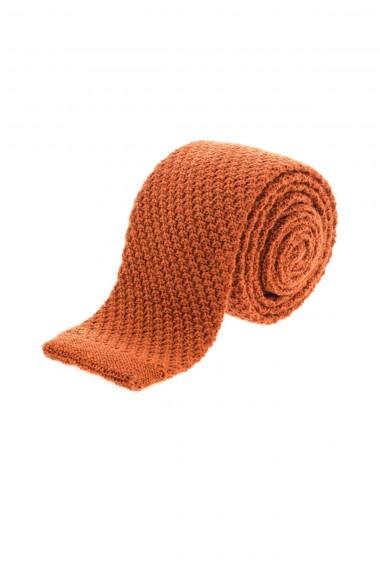 FRANCO BASSI Cravatta arancione in lana A/I 16-17 per uomo