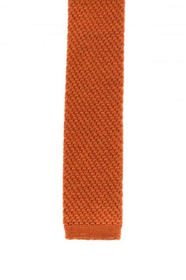 FRANCO BASSI Orange wool tie for men F/W 16-17