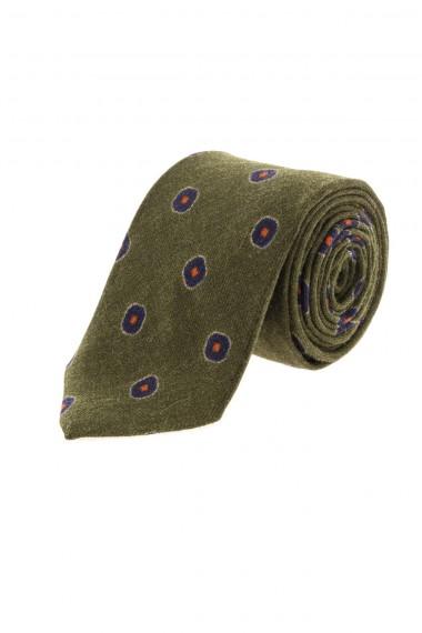 Green tie FRANCO BASSI for men F/W 16-17