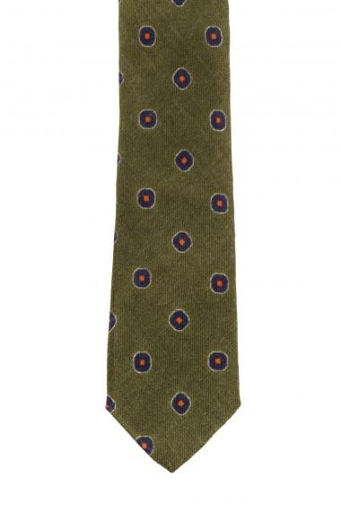 Cravatta verde A/I 16-17 con disegno per uomo FRANCO BASSI