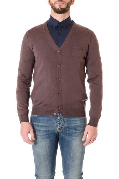 Cardigan in lana con taschino PAOLO PECORA A/I 16-17