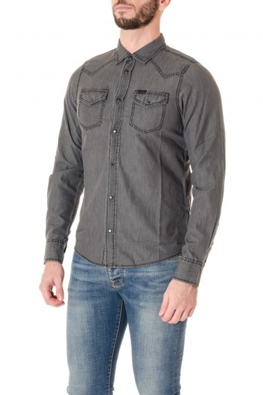 Gray cotton shirt for man DIESEL F/W 16-17