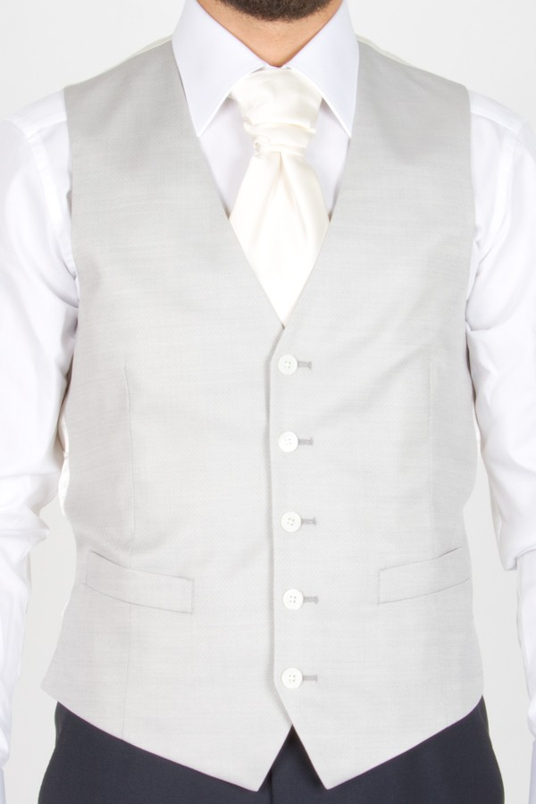 LARDINI Gilet grigio chiaro per sposo