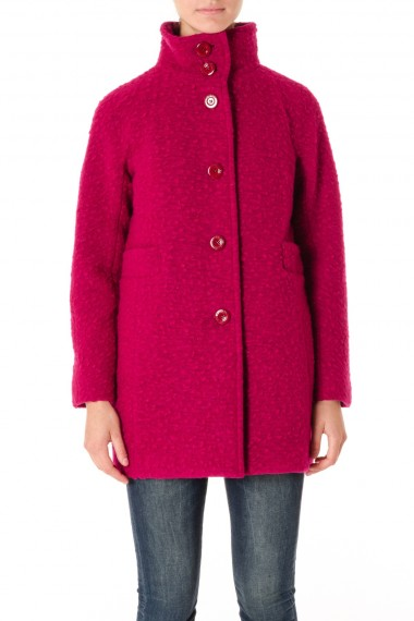 UP TO BE Cappotto fucsia donna F/W 16-17