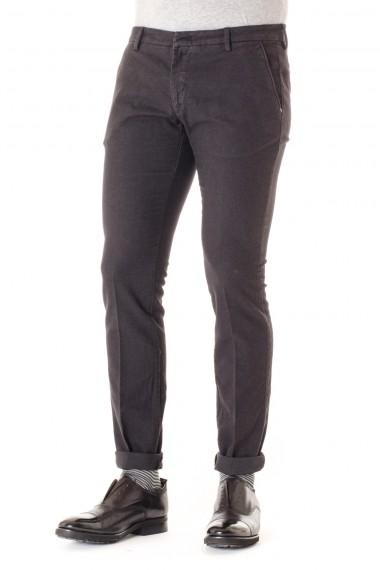 MICHAEL COAL Lead gray trousers for men F/W 16-17