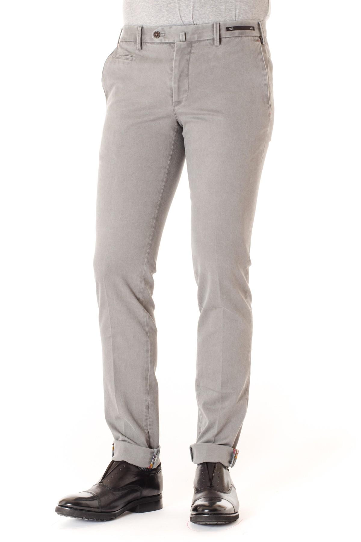 Cotton trousers Super Slim Fit grey PT01 cgjMK