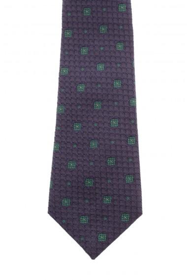 Cravatta blu con quadri verdi RODA seta A/I 16-17