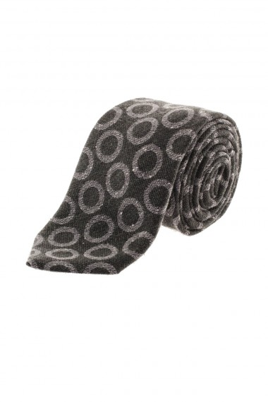 Green tie for men F/W 16-17 with gray circles RODA