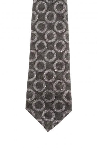 RODA Cravatta a cerchi grigi su fondo verde A/I 16-17