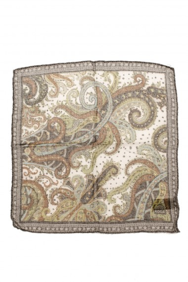 RODA pocket square with floral patterns