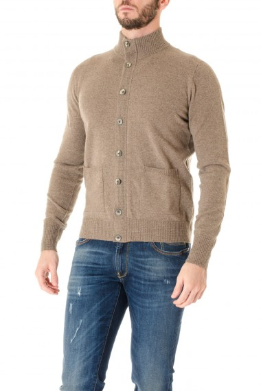 Brown cardigan sweater for men H953 F/W 16-17