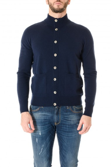 H953 Blue cardigan sweater F/W 16-17 for men