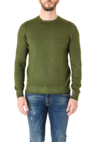 d1297f38d8 Green round neck sweater for men F W 16-17 LA FILERIA ...