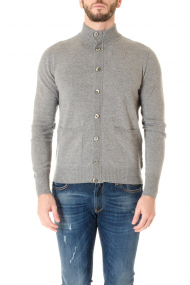 Gray cardigan sweater F/W 16-17 for men H953