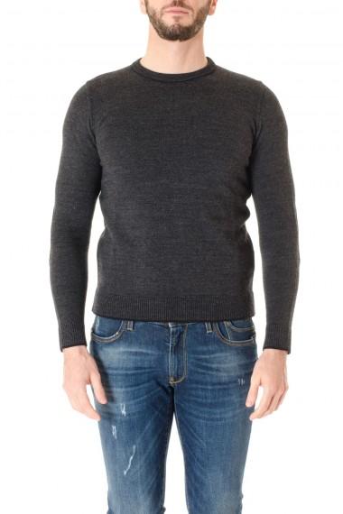Dark gray round neck sweater INDIVIDUAL for men F/W 16-17