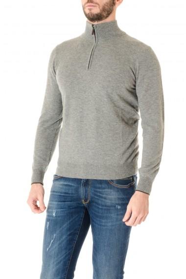 RIONE FONTANA Gray zip sweater for men F/W 16-17
