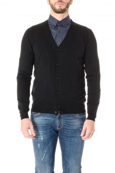 F/W 16-17 Black cardigan sweater PAOLO PECORA