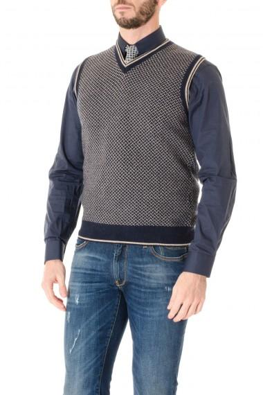 Vest man H953 F/W 16-17 blue and beige