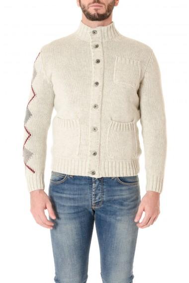 Cardigan in lana merinos e alpaca baby H953 beige A/I 16-17