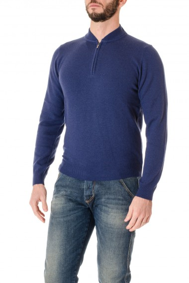 Blue quarter zip sweater for men F/W 16-17 RIONE FONTANA