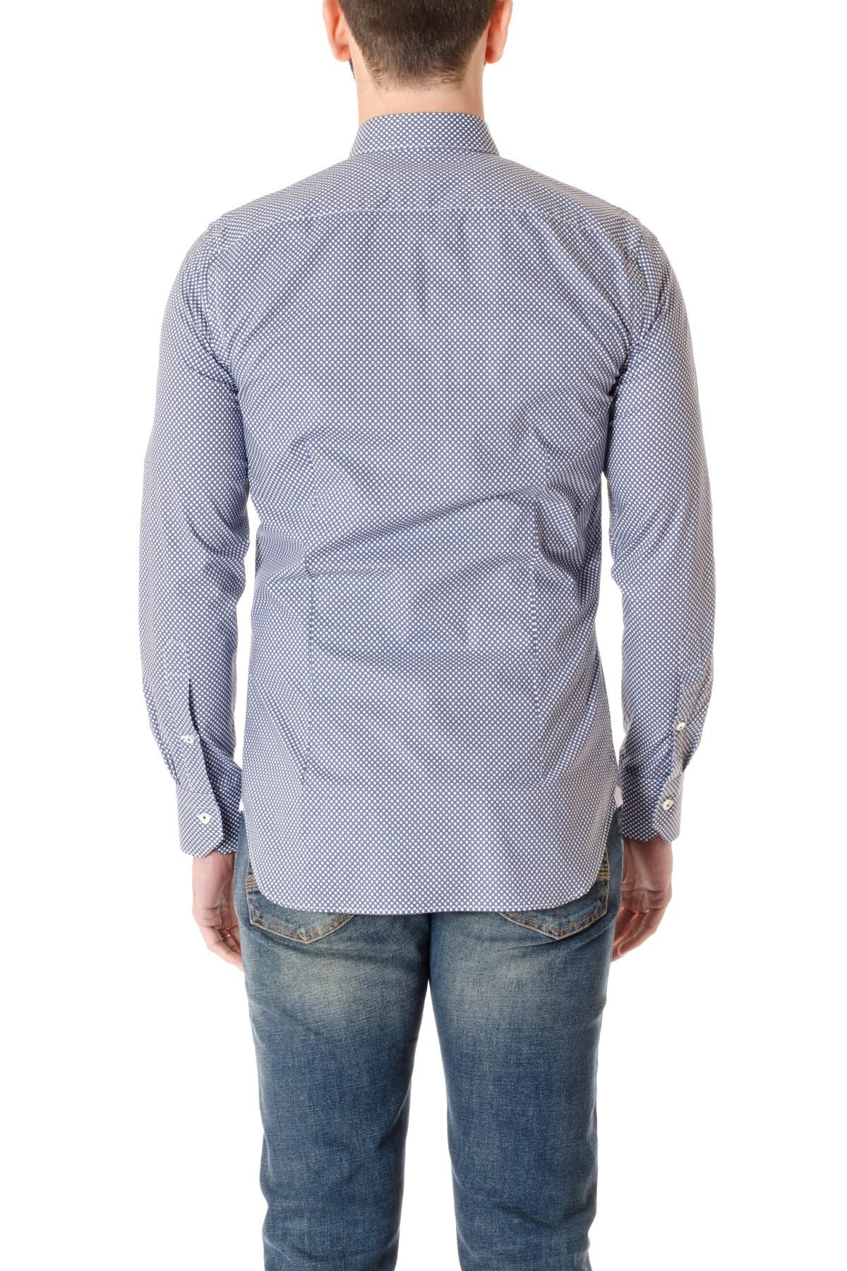 11e5f56fe9676d A/I Camicia BORSA blu a pois bianchi SLIM2 - Rione Fontana