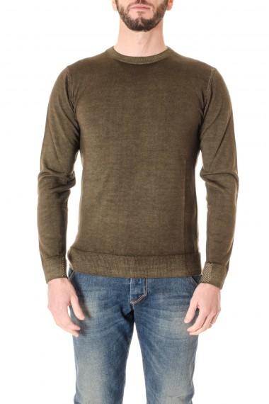 WOOL & CO. A/I 16-17 Maglia a girocollo in lana verde