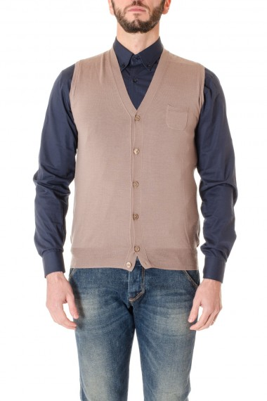 F/W 16-17 Hazel knit vest for men PAOLO PECORA