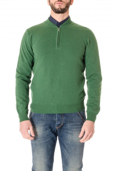 F/W 16-17 Green sweater for men with zip RIONE FONTANA