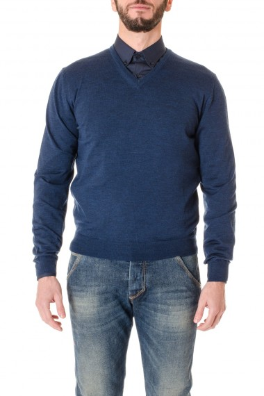 Maglia scollo a V blu per uomo RIONE FONTANA A/I 16-17