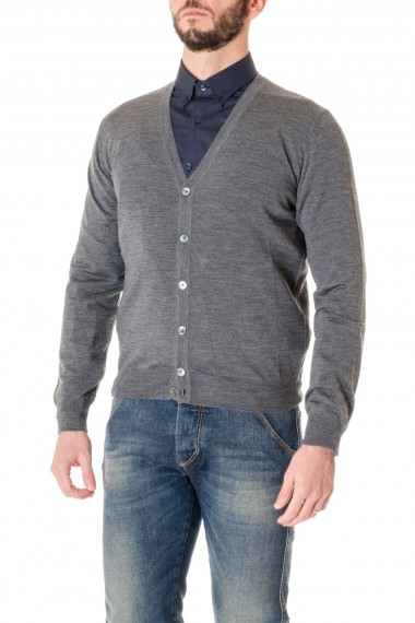 Cardigan grigio RIONE FONTANA made in Italy A/I 16-17