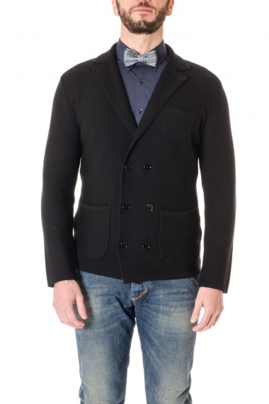 Black cardigan PAOLO PECORA F/W 16-17 made in Italy