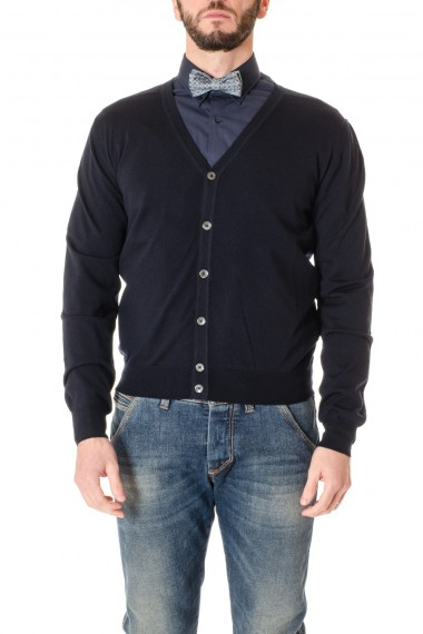 RIONE FONTANA Blue cardigan sweater for men F/W 16-17