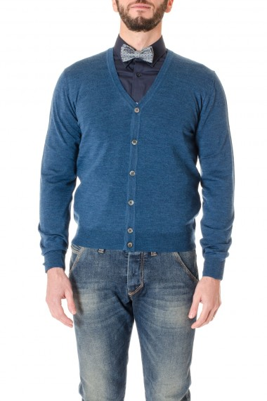 F/W 16-17 Blue cardigan sweater RIONE FONTANA for men