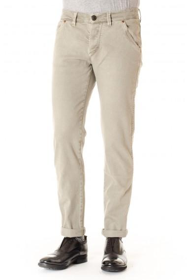 BARBA Dove gray cotton trousers for men F/W 16-17