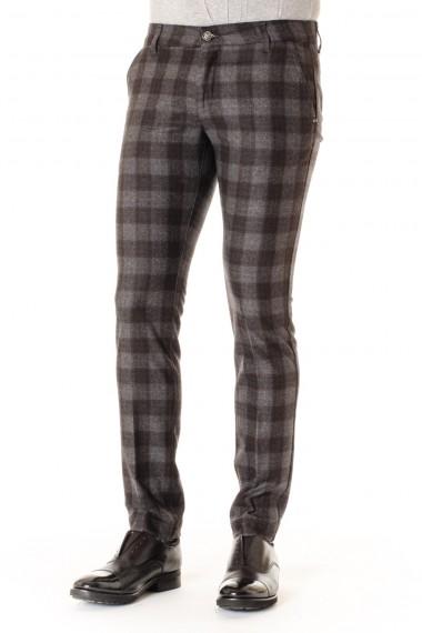 Pantaloni a quadrettoni in lana ENTRE AMIS per uomo A/I 16-17