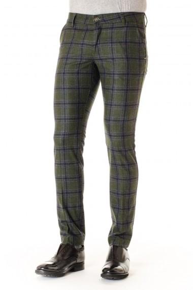 ENTRE AMIS Pantaloni a quadrettoni in lana A/I 16-17 per uomo