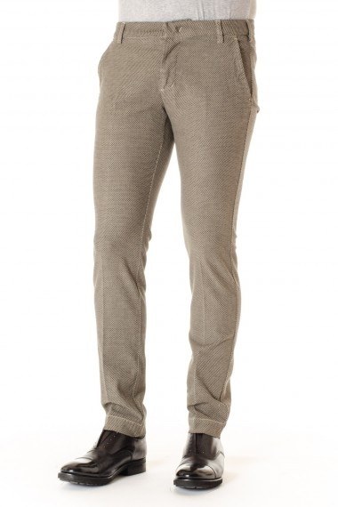Pantaloni A/I 16-17 in cotone per uomo ENTRE AMIS beige e nero