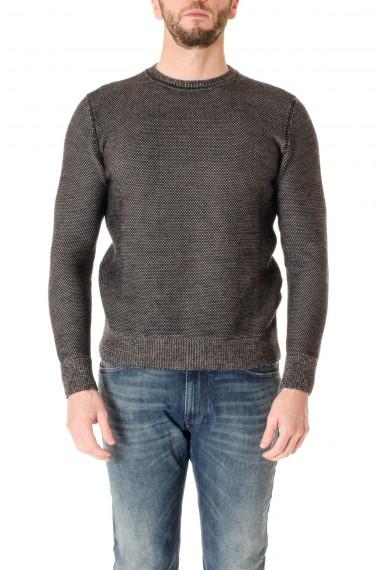 Girocollo uomo in lana merinos a due colori H953 A/I 16-17