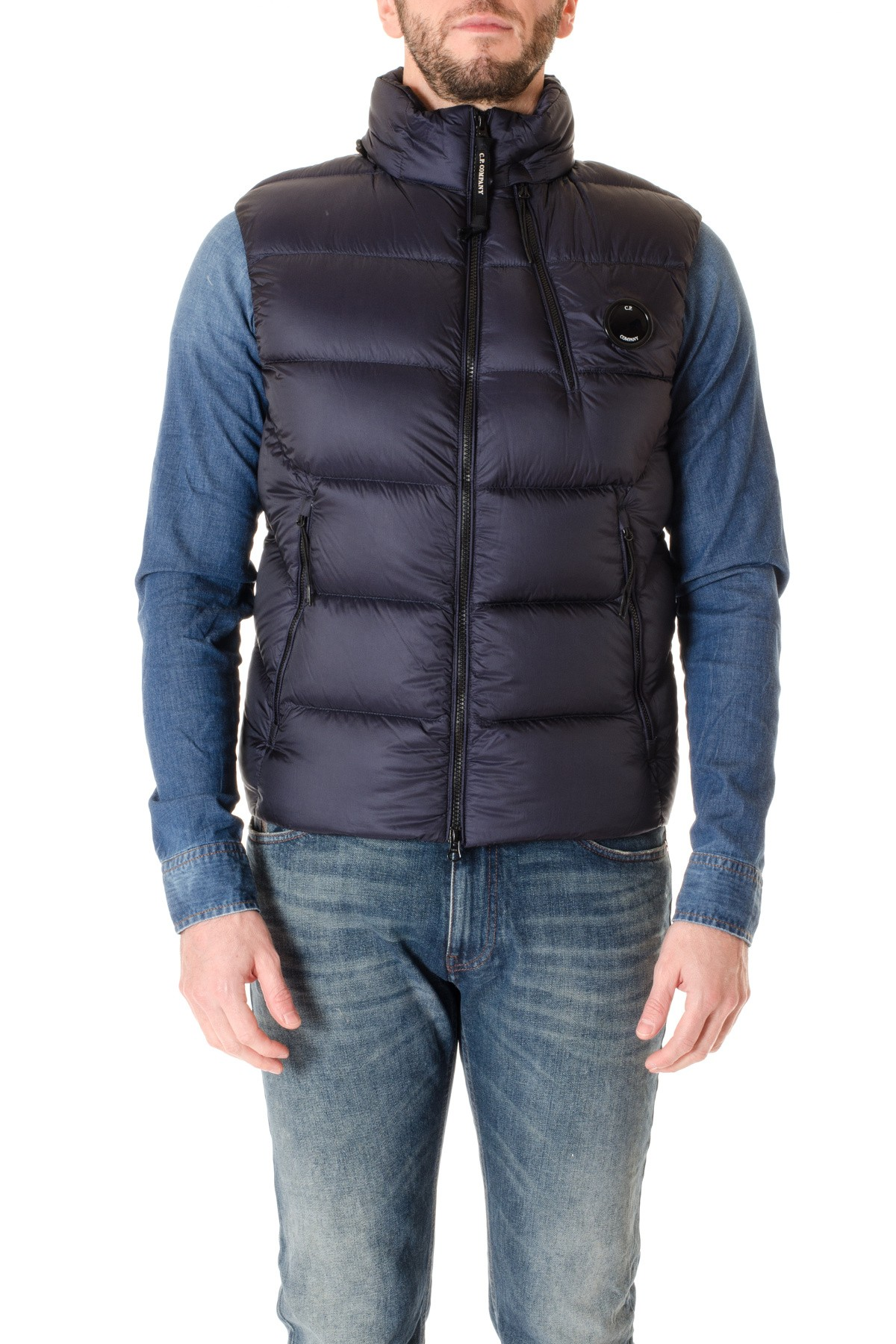 bf4e8bb41 C.P. COMPANY Blue padded jacket without sleeves F/W 16-17 - Rione ...