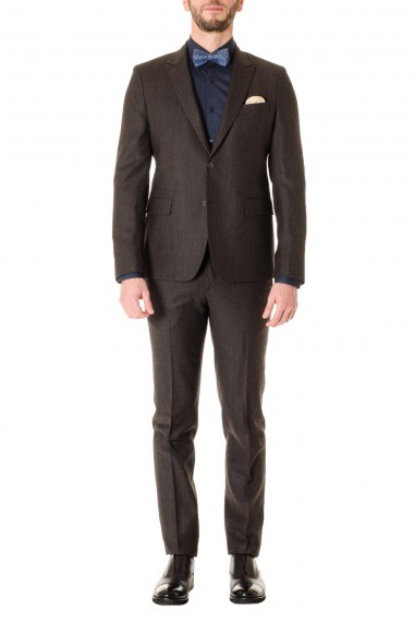 Brown suit for men F/W 16-17 with micro-pattern BRIAN DALES