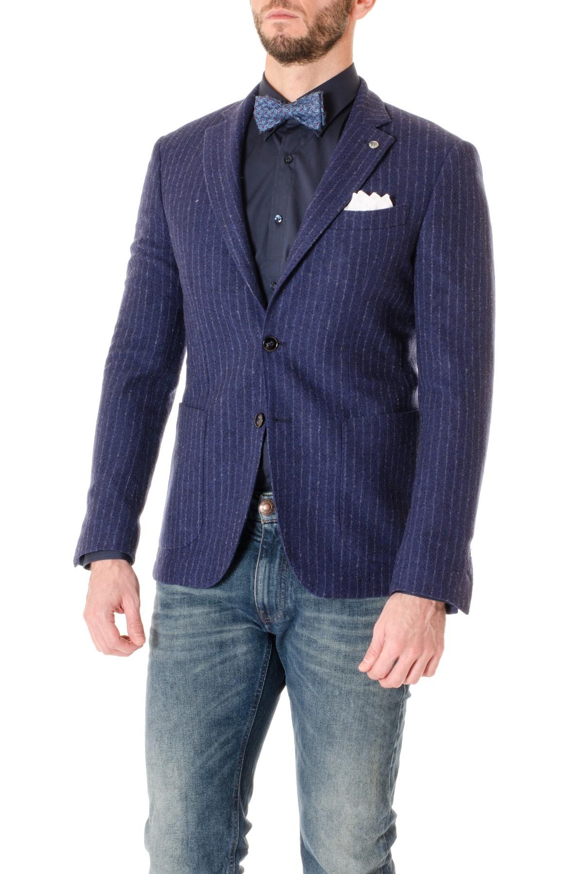 Giacca Matrimonio Uomo : Domenico tagliente giacca blu gessato per uomo a i