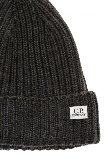 80f75c613ce ... F W 16-17 Green wool cap C.P. COMPANY