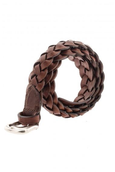 RIONE FONTANA Cintura in pelle intrecciata A/I 16-17 color ruggine